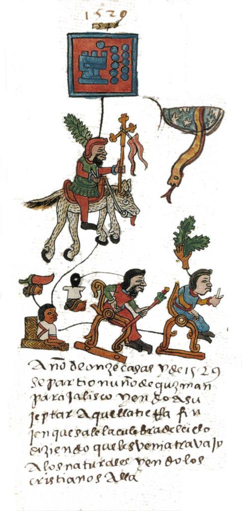Nuño Beltrán de Guzmán as depicted in the Codex Telleriano-Remensis