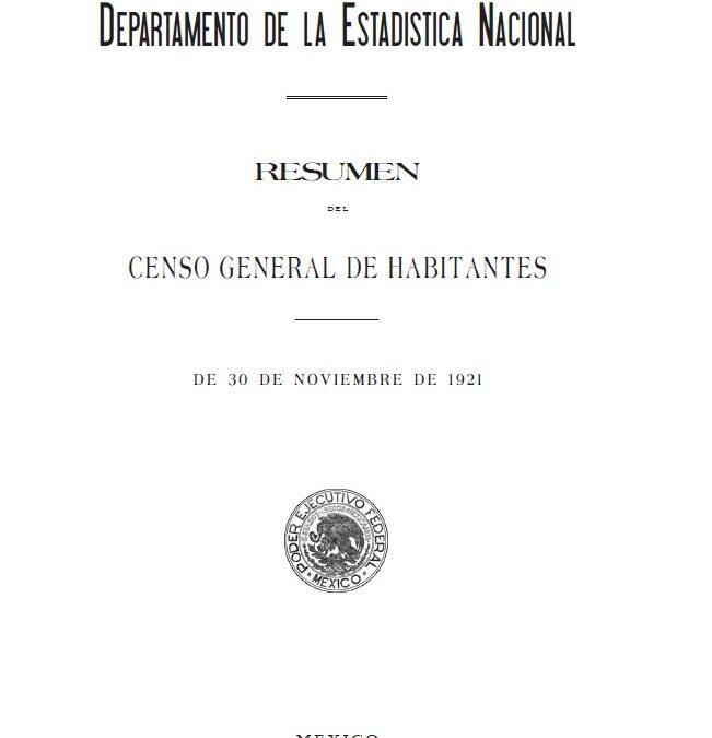 The Early Mexican Censuses (1793-1921)