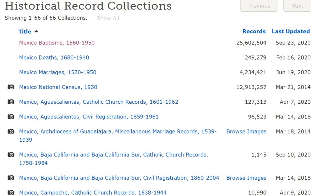 Navigating FamilySearch.org for Mexican Records